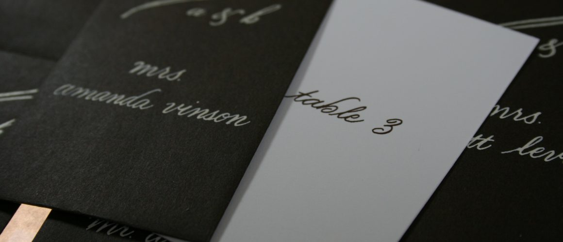 Wedding Calligraphy - Escort cards