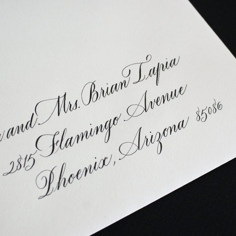 Hand lettered style Bickham