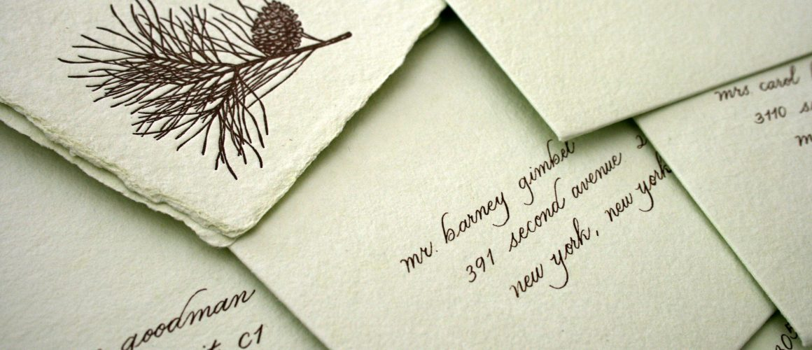 Wedding Calligraphy - Hand made paper
