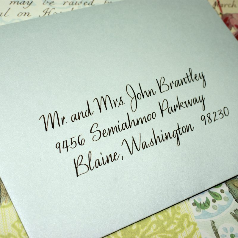 Hand lettered style Jamila