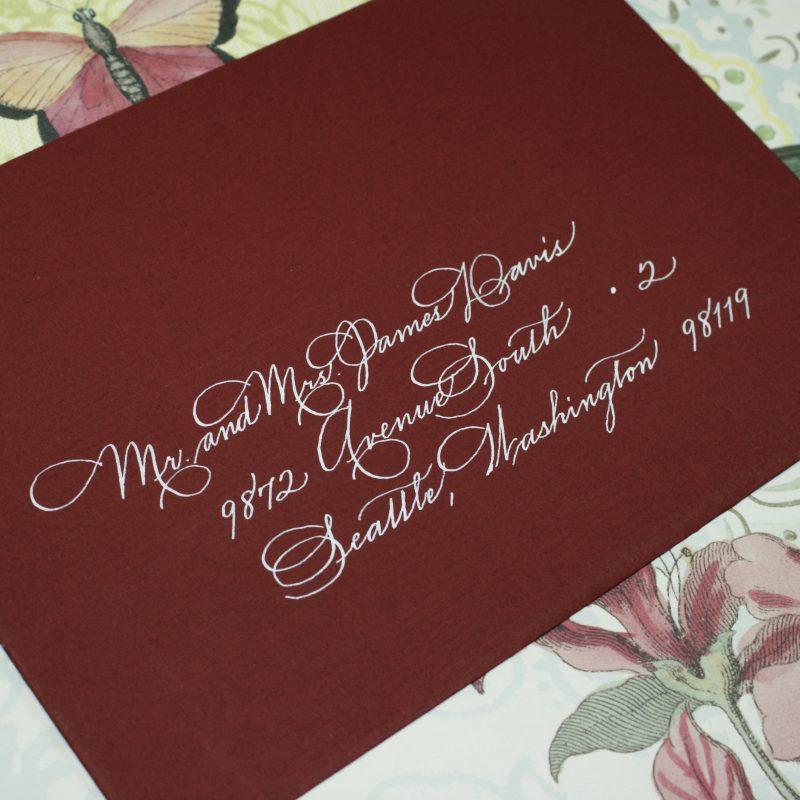 Hand lettered style Spencerian
